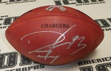 Dwight Freeney Signed Official NFL Football BAS COA Chargers Military Game Ball