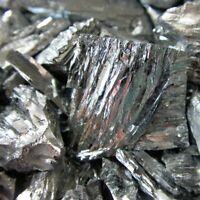 100g Tellurium Ingot 99.99% High Pure Crystals Geodes For Tellurium Crystals