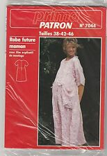 Patron couture Prima N°7044 Robe Future Maman Tailles 38 - 42 - 46