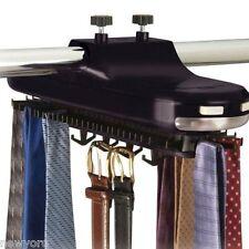 Tie Belt Necktie rotates 64 pic Hanger hang Organizer Closet Mounted Rack Holder