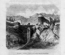 Stampa antica TREBISONDA Trabzon Turchia Turkey 1856 Old Print
