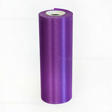 "8"" Wide Purple Ceremonial Ribbon for Grand Opening Ceremony 20 Yard Roll"