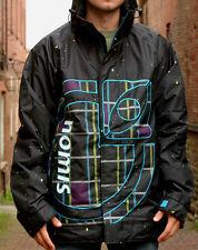 Nomis Design Logo Snowboard Jacket Mens Ski Waterproof Insulated Coat Black XL