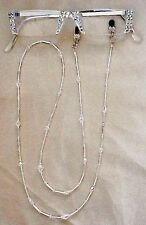 ! SASSY READING GLASSES CRYSTAL AB SILVER 2.25 READERS and MATCHING CHAIN !
