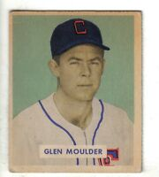 1949 Bowman Baseball Card #159 Glen Moulder, Chicago White Sox EX+