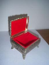 Vintage Trinket box, Lined Jewelry Box Unique