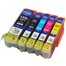 5-Pack 33XL Compatible Epson Expression Premium XP-640 Ink Cartridges (NON OEM)