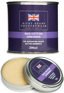 Wax Cotton Dressing Reproof Waterproofing Protection Waxed Fabric Stockman New
