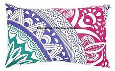 Pillow Case 100% Cotton Cushion Cover Indian Home Decor Pink Ombre Mandala Sham