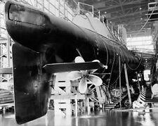 USS GROWLER SUBMARINE AT PORTSMOUTH NAVY HARD 11x14 SILVER HALIDE PHOTO PRINT
