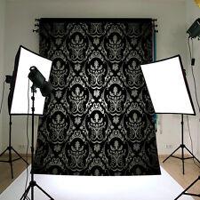 Negro Retro Damast Tela Vinilo Studio Fotografía Kulisse Foto Fondos De Pantalla