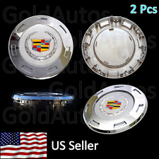 "NEW 2 PCS CADILLAC ESCALADE 2007-2015 COLORED CREST CENTER CAP 22"" RIM 9596649"