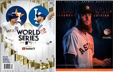 2017 HOUSTON ASTROS YEARBOOK + WORLD SERIES CHAMPIONSHIP PROGRAM DODGERS