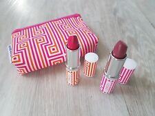 Clinique Pink Plum Punch Pop Lipstick 3 PC Gift Set Jonathan Adler make up bag