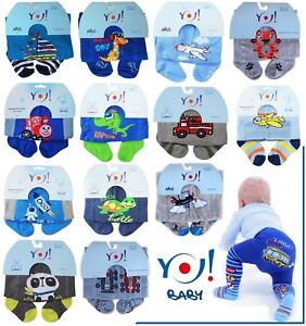 Yo! Baby BOYS MIX Cotton Tights Soft size 3 - 24 Months Toddler NEW
