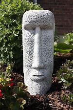 Steinfigur Osterinsel Gesicht 2 Frostfest Garten Deko SteingussGartenfigur