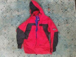 Men's COLUMBIA black/red Omni Tech hooded jacket Sz. M
