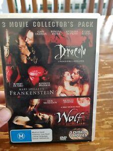 Dracula / Frankenstein / Wolf Dvd