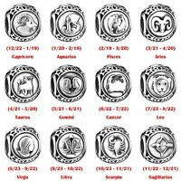 European 925 Sterling Silver Charms Constellation Logo Bead Fit Bracelets Chain