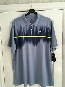 Mens Nike Dri- Fit Vapor Fog Print Golf Polo Shirt Size XXL