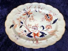 Vintage Booths Fresian Oval Platter Scalloped England A8022 16in