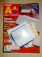 Apple II Computer InCider A+ Magazine March 1990 Macintosh Mac Graphics Finance