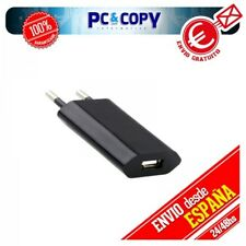 PACK 2 CARGADORES CORRIENTE USB RED UNIVERSAL MOVIL SMARTPHONE NEGRO 5V 1A NEW