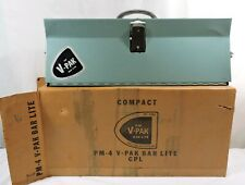 Vtg Mid Century V-PAK 4 Bulb Light Lite CPL Bar Photography w/ Box PM-4