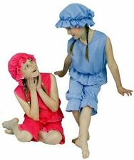 Victorian-Seaside-Ladies RED or BLUE BATHING BELLE Fancy Dress All Sizes