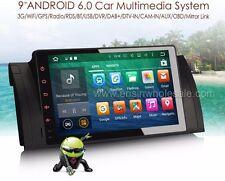 "AUTORADIO 9"" Bmw Serie 5 E39 X5 E53 M5 Android 6.0 Navigatore Gps Comandi mp3"