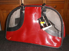 PET VOYAGÉ Red Vinyl Carrier for Pets up to 14 Inches Dog Tote