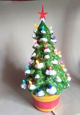More details for ceramic vintage style christmas tree electric lamp