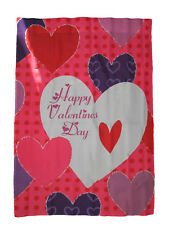 "28x40 Happy Valentines Day Multi Heart Nylon Sleeved Garden Flag 28""x40"""