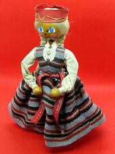 Vintage USSR Soviet Latvia Ethnic Doll Latvian Girl in National Costume - 1970s`