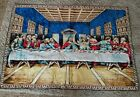 """""""THE LAST SUPPER""""  Religious Wall Tapestry 48x74 Jesus Apostles Made in Italy"""