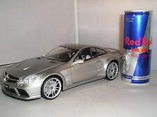 Mercedes Benz SL65 AMG Metal Diecast Car 1:18 Mondo Motor TS1219 Silver Boxed