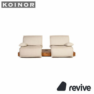 Koinor Free Motion Edit Stoff Sofa Creme Zweisitzer Funktion Relaxfunktion