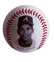 MLB Dave Justice Fotoball Atlanta Braves 1993 Chevron