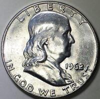 1962 - D  Silver Benjamin Franklin Half Dollar - ** BU ** Very Nice Coin.
