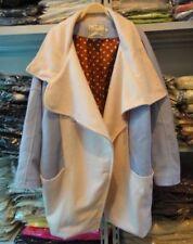 Korean Women Oversized Wool Blend Coat-Blue