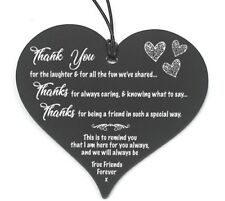#683 Plaque Sign Good / Best Friend Gift Shabby Chic Heart Birthday Christmas