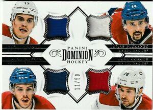 2013-14 Panini Dominion - Quad Jerseys 11/50 PLEKANEC BOURQUE GORGES BOURNIVAL