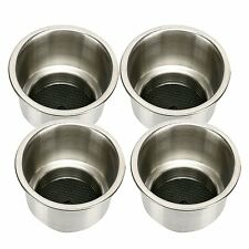 4pcs Cup Drink Holders Stainless  w/ Drain Marine Boat Rv Camper AU Fast Ship