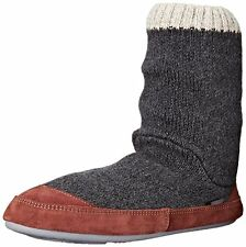 Acorn The Slouch Boot Slipper Sock Men's Size Small 7.5-8.5 A10162CRW Charcoal