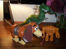 Disney Pixar Toy Story large talking rex + talking slinky + face changing chunk