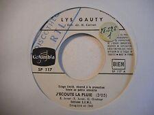 45t SIXTIES PORT 0€ ▓ LYS GAUTY : J'ECOUTE LA PLUIE
