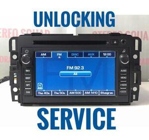 Unlocking Service for GM AM FM CD DVD Navigation Radio UNIT