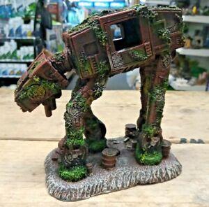 "Space Dog ""Star Wars Style AT AT""  Medium Aquarium Fish Tank Ornament"
