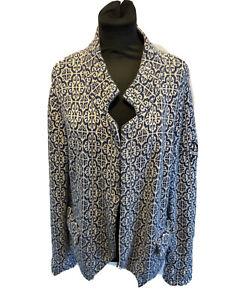 Odd Molly Geometric Print Cotton Cardigan Jacket Size 4/UK 14