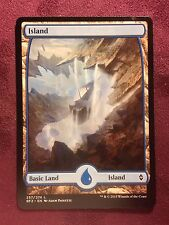 Battle for Zendikar Full Art Land  Island #257  VO  -  MTG Magic (Mint/NM)